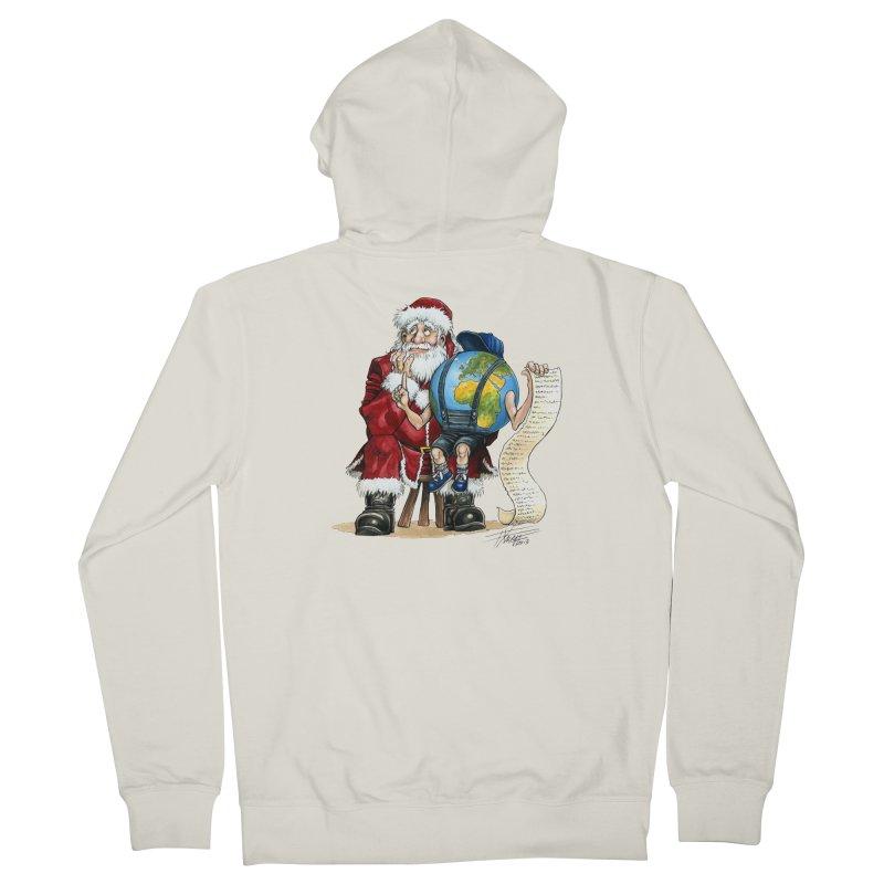 Poor Santa! What a headache! Women's Zip-Up Hoody by Ferran Xalabarder's Artist Shop