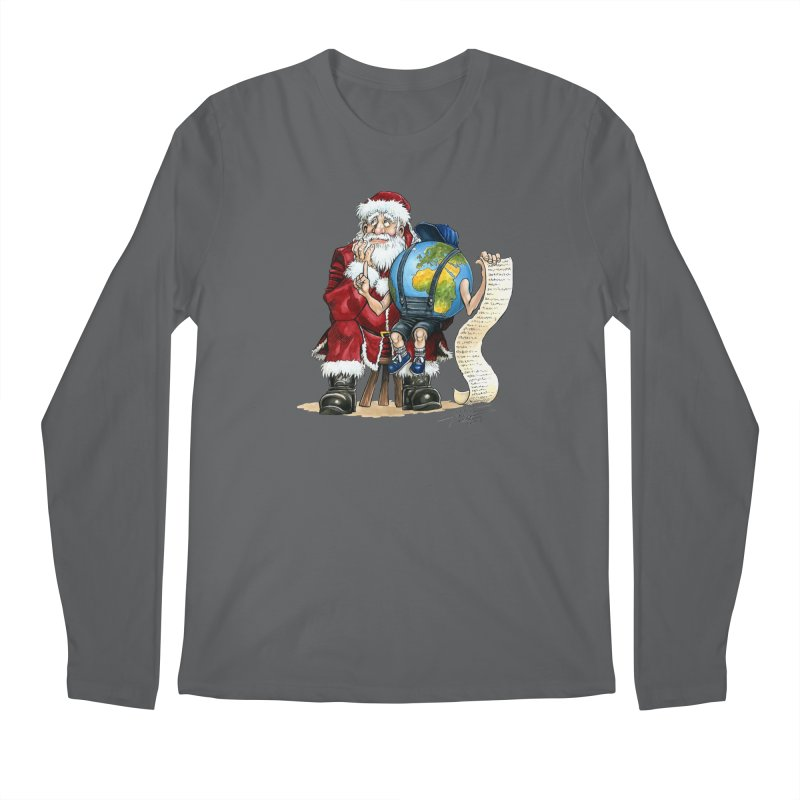 Poor Santa! What a headache! Men's Longsleeve T-Shirt by Ferran Xalabarder's Artist Shop