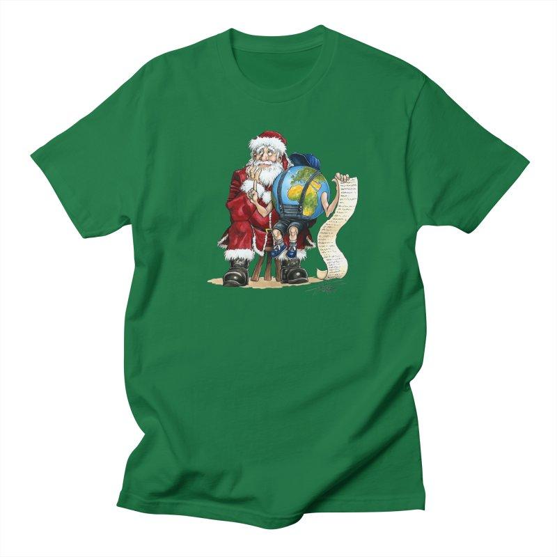 Poor Santa! What a headache! Men's Regular T-Shirt by Ferran Xalabarder's Artist Shop