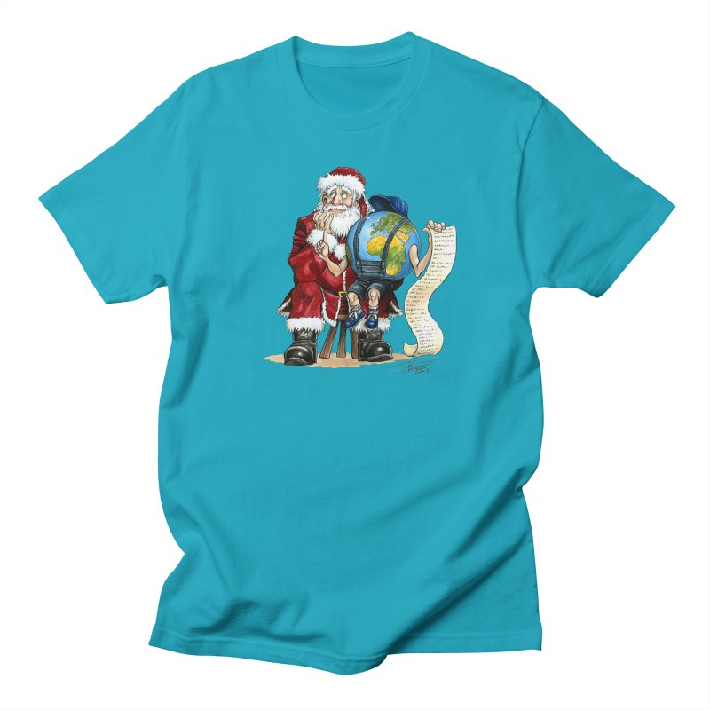 Poor Santa! What a headache! Men's T-Shirt by Ferran Xalabarder's Artist Shop