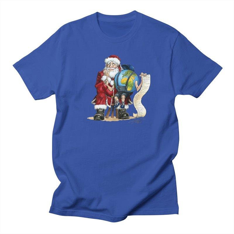 Poor Santa! What a headache! Men's T-Shirt by Ferran Xalabarder's Artist Shop