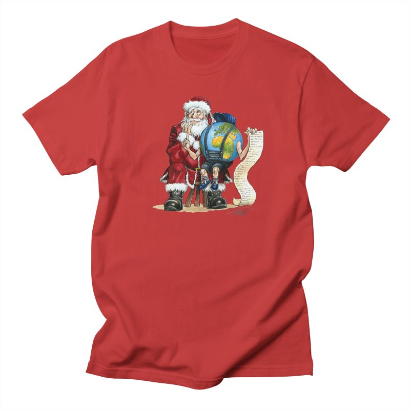 Poor Santa! What a headache! Men's Regular T-Shirt by Ferran Xalabarder's Artist Shop