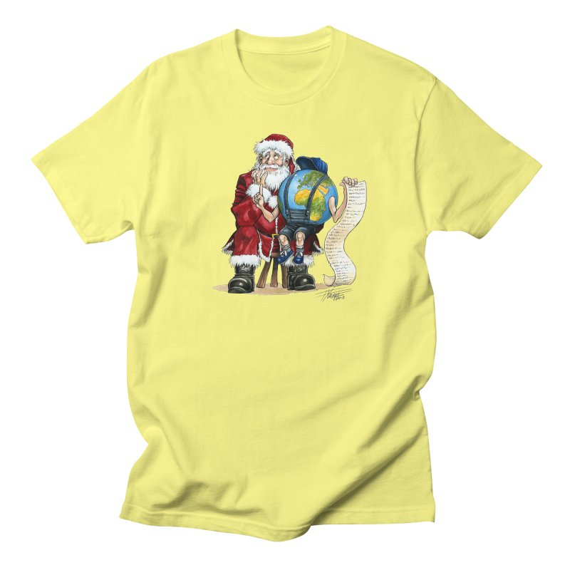 Poor Santa! What a headache! Women's Unisex T-Shirt by Ferran Xalabarder's Artist Shop