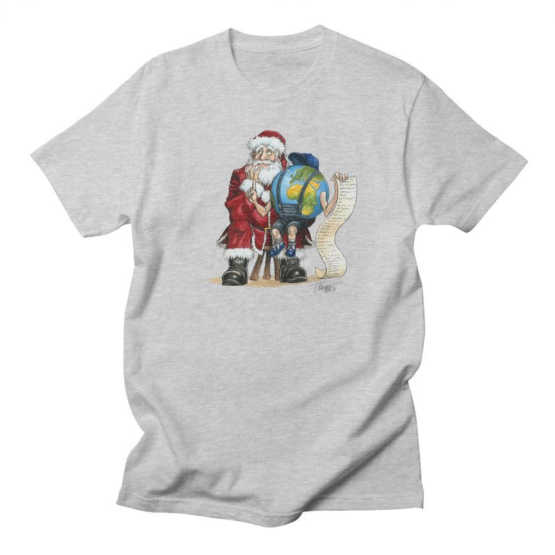 Poor Santa! What a headache! Women's Regular Unisex T-Shirt by Ferran Xalabarder's Artist Shop