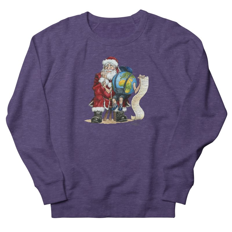 Poor Santa! What a headache! Women's French Terry Sweatshirt by Ferran Xalabarder's Artist Shop
