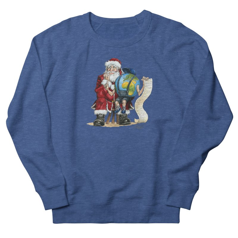 Poor Santa! What a headache! Men's French Terry Sweatshirt by Ferran Xalabarder's Artist Shop