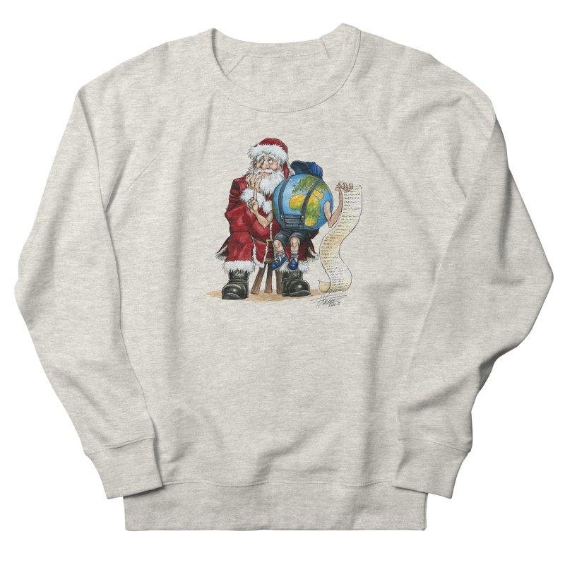 Poor Santa! What a headache! Men's French Terry Sweatshirt by Ferran Xalabarder's Artist Shop