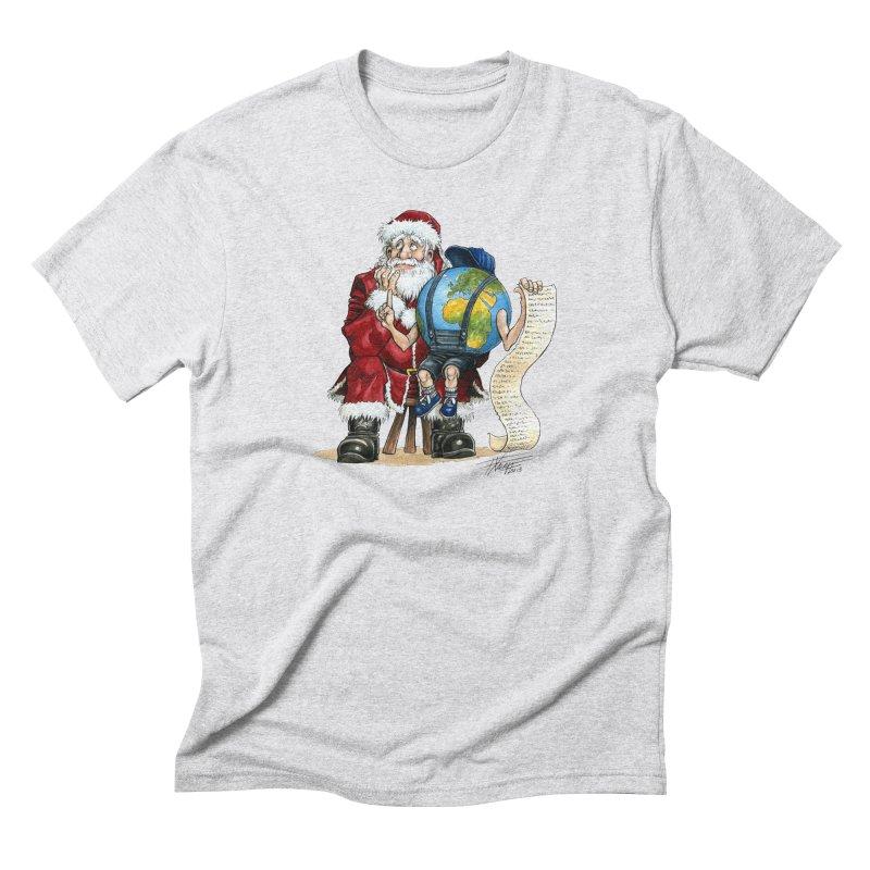 Poor Santa! What a headache! Men's Triblend T-Shirt by Ferran Xalabarder's Artist Shop