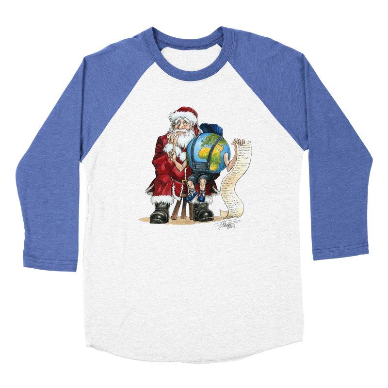 Poor Santa! What a headache! Women's Baseball Triblend Longsleeve T-Shirt by Ferran Xalabarder's Artist Shop
