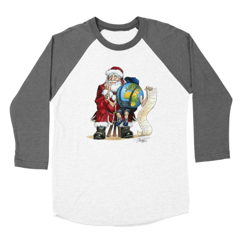 Poor Santa! What a headache! Women's Baseball Triblend Longsleeve T-Shirt by Ferran Xalabarder's Artist Shop