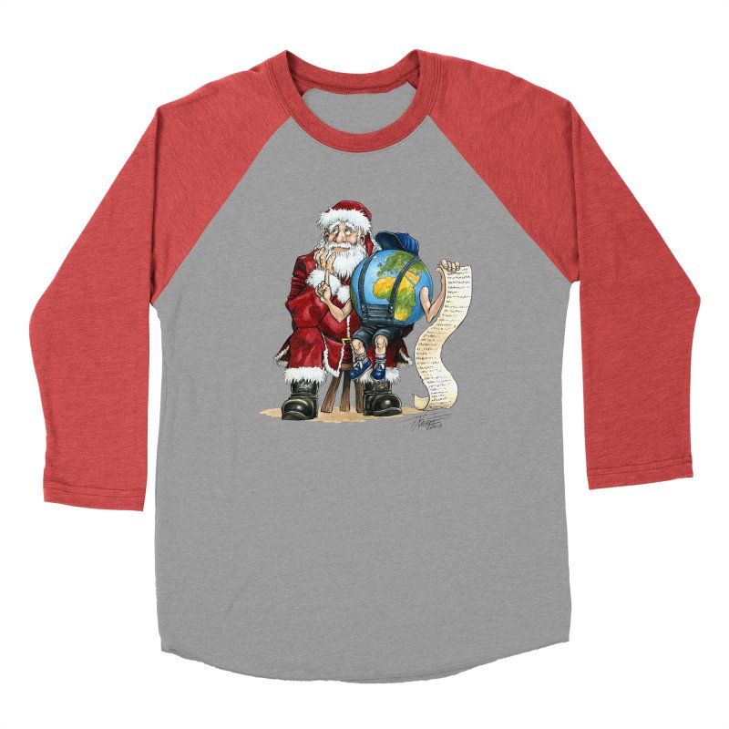 Poor Santa! What a headache! Women's Baseball Triblend T-Shirt by Ferran Xalabarder's Artist Shop
