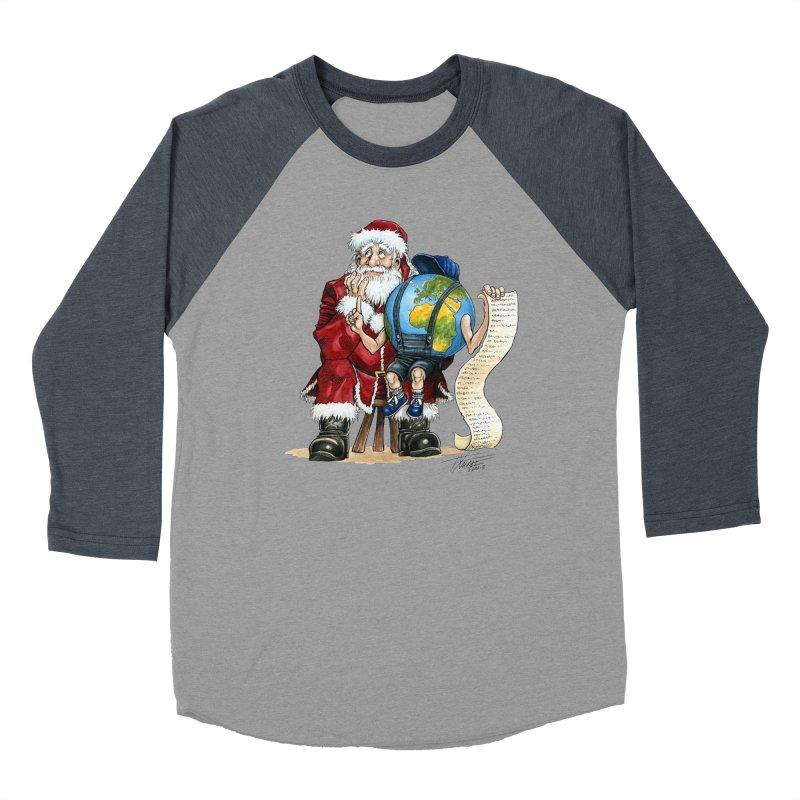 Poor Santa! What a headache! Men's Baseball Triblend Longsleeve T-Shirt by Ferran Xalabarder's Artist Shop