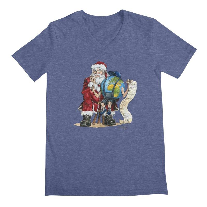 Poor Santa! What a headache! Men's V-Neck by Ferran Xalabarder's Artist Shop