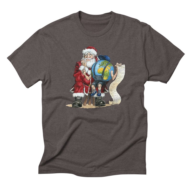 Poor Santa! What a headache! Men's Triblend T-shirt by Ferran Xalabarder's Artist Shop