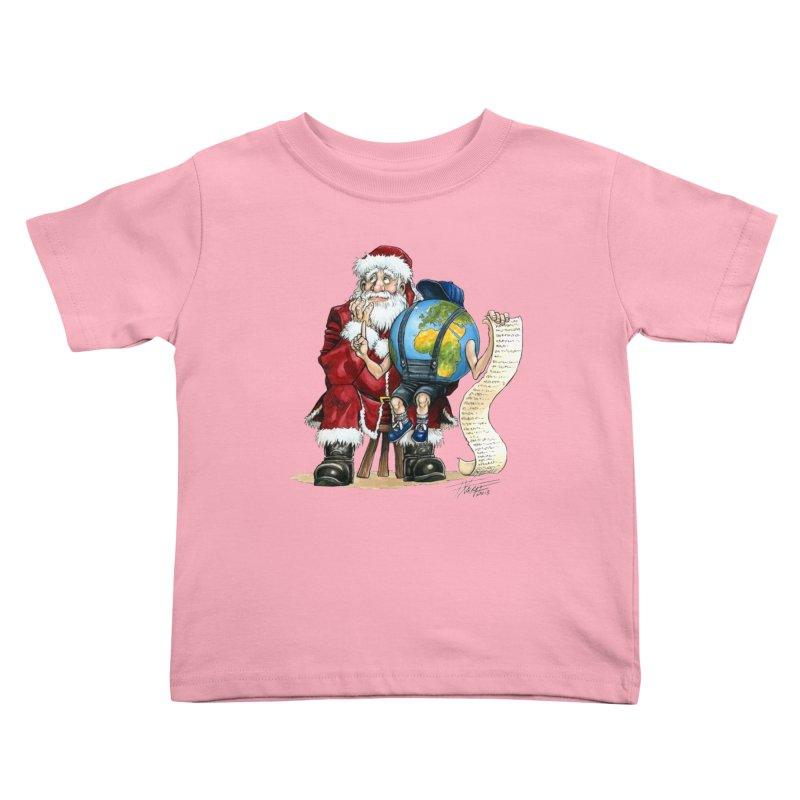 Poor Santa! What a headache! Kids Toddler T-Shirt by Ferran Xalabarder's Artist Shop