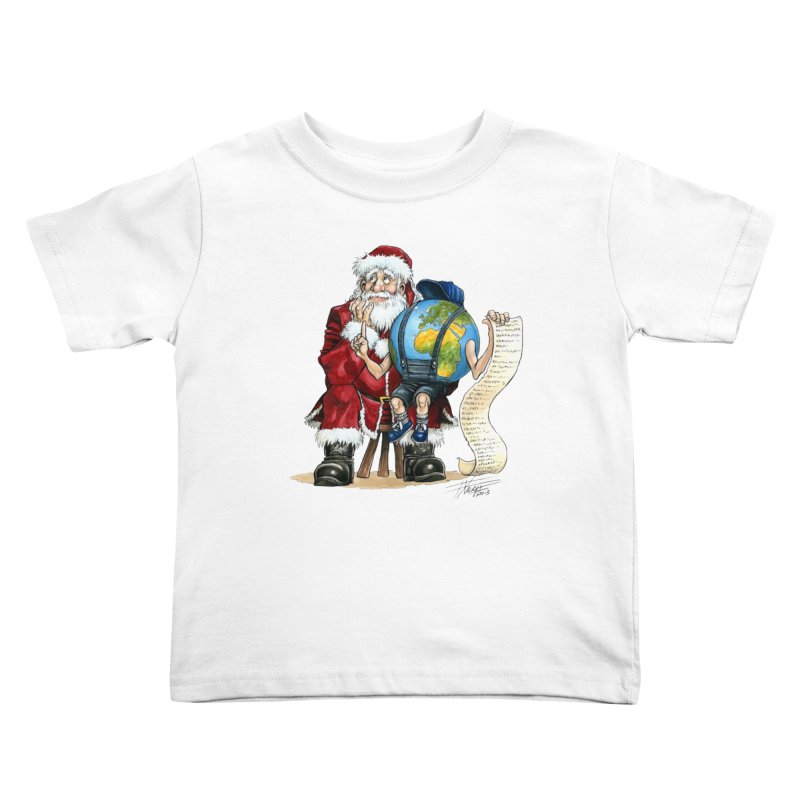 Poor Santa! What a headache! Kids Toddler T-Shirt by Ferran Xalabarder's Artist Shop