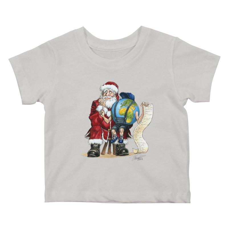 Poor Santa! What a headache! Kids Baby T-Shirt by Ferran Xalabarder's Artist Shop
