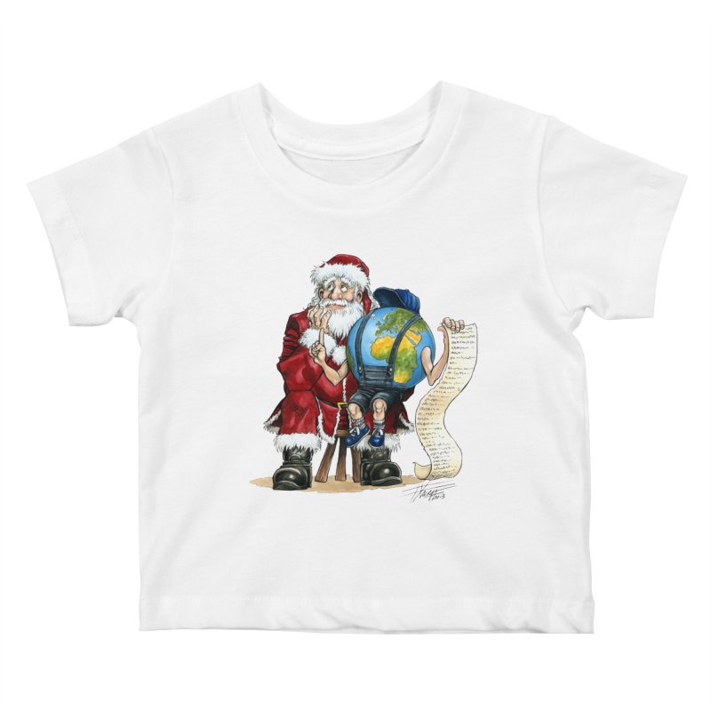 Poor Santa! What a headache! Kids Baby T-Shirt by Ferran Xalabarder's Artist Shop