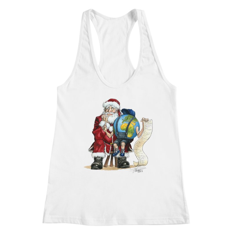 Poor Santa! What a headache! Women's Tank by Ferran Xalabarder's Artist Shop