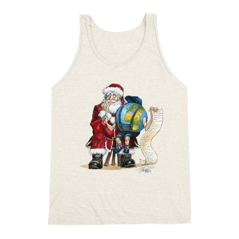 Poor Santa! What a headache! Men's Triblend Tank by Ferran Xalabarder's Artist Shop