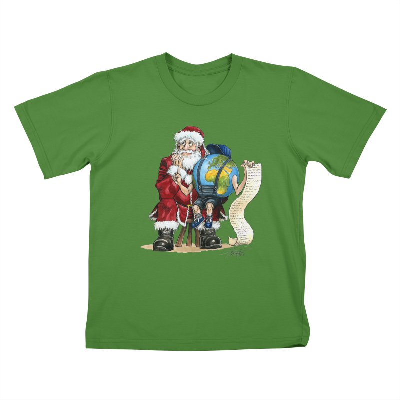 Poor Santa! What a headache! Kids T-shirt by Ferran Xalabarder's Artist Shop
