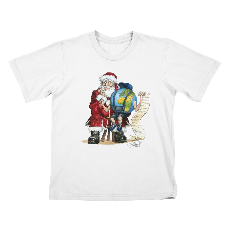 Poor Santa! What a headache! Kids T-Shirt by Ferran Xalabarder's Artist Shop