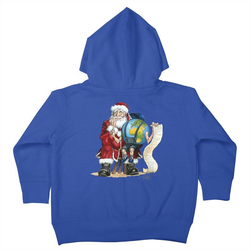 Poor Santa! What a headache! Kids Toddler Zip-Up Hoody by Ferran Xalabarder's Artist Shop