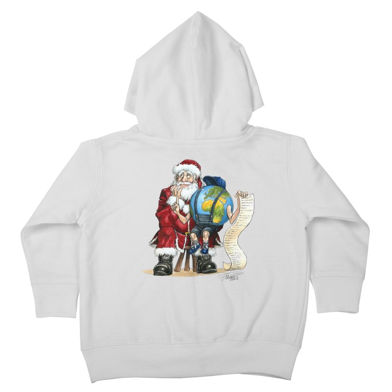 Poor Santa! What a headache! Kids Toddler Zip-Up Hoody by Ferran Xalabarder's Artist Shop