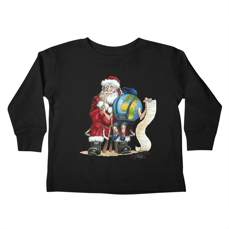 Poor Santa! What a headache! Kids Toddler Longsleeve T-Shirt by Ferran Xalabarder's Artist Shop
