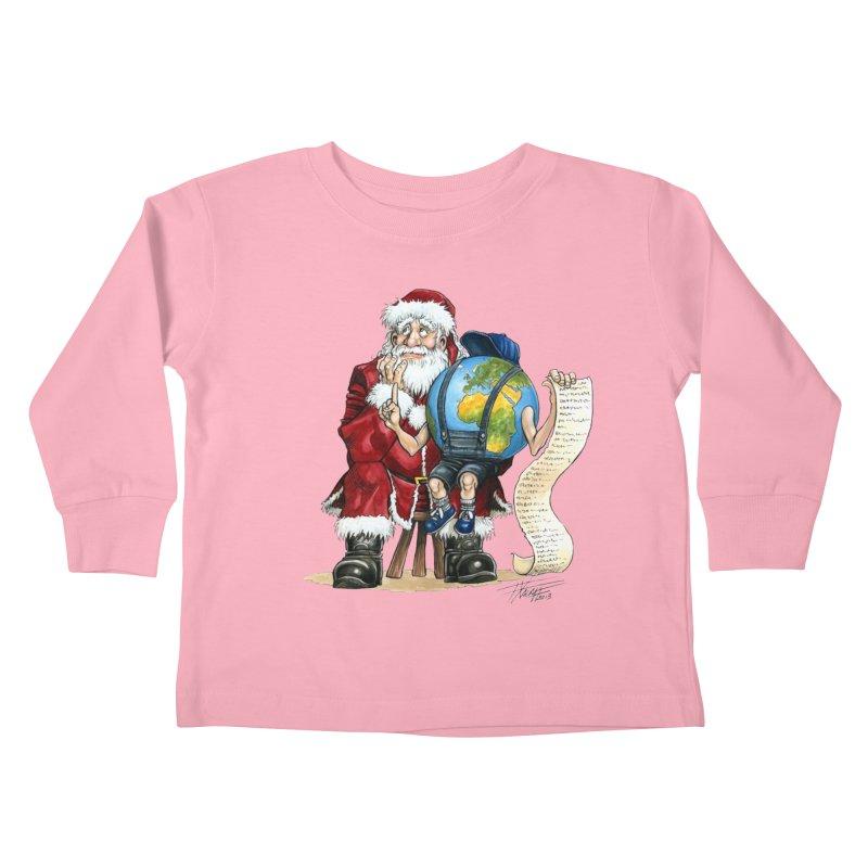 Poor Santa! What a headache! Kids Toddler Longsleeve T-Shirt by Ferran Xalabarder's Artist Shop