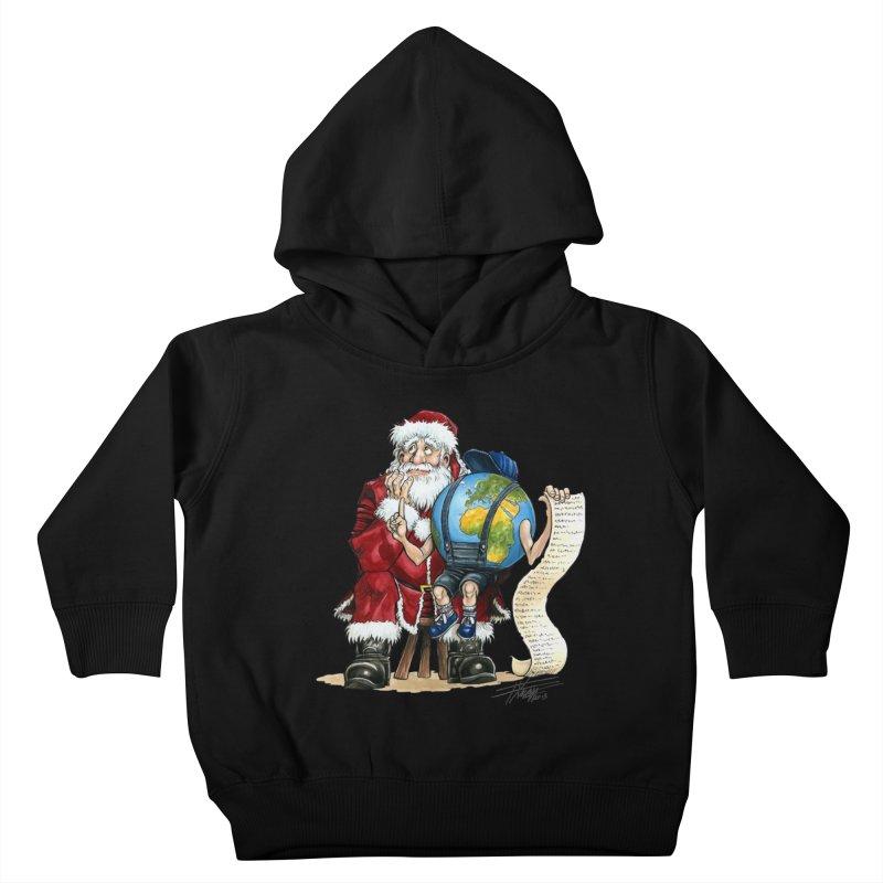 Poor Santa! What a headache! Kids Toddler Pullover Hoody by Ferran Xalabarder's Artist Shop