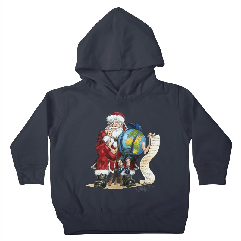 Poor Santa! What a headache! Kids Toddler Pullover Hoody by Ferran Xalabarder's Artist Shop