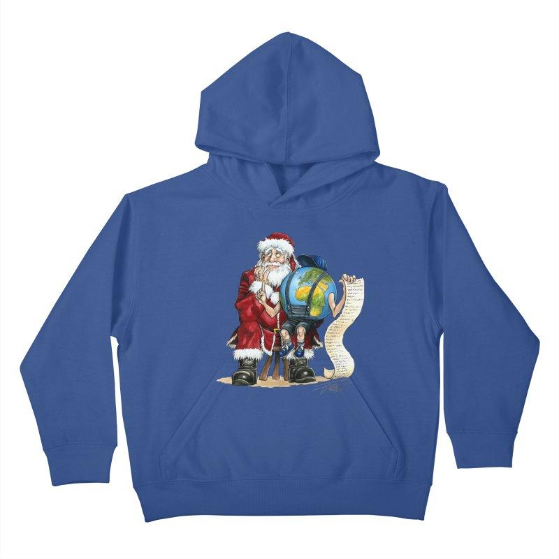 Poor Santa! What a headache! Kids Pullover Hoody by Ferran Xalabarder's Artist Shop