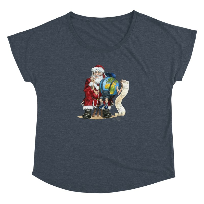 Poor Santa! What a headache! Women's Dolman by Ferran Xalabarder's Artist Shop