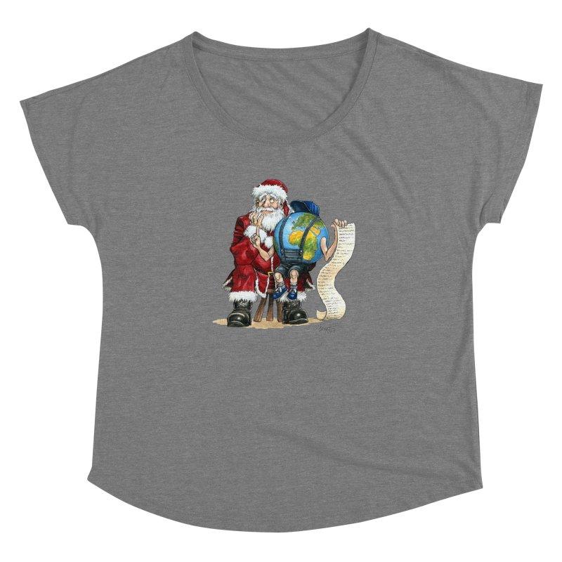 Poor Santa! What a headache! Women's Dolman by Ferran Xalabarder's Artist Shop