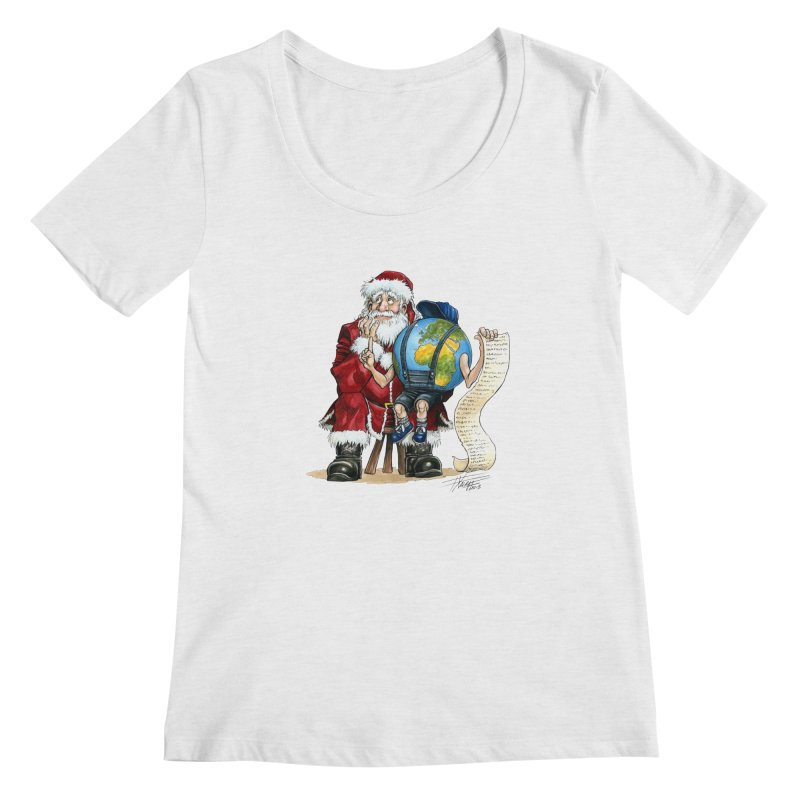 Poor Santa! What a headache! Women's Regular Scoop Neck by Ferran Xalabarder's Artist Shop