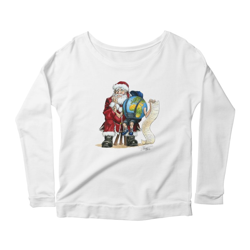 Poor Santa! What a headache! Women's Longsleeve T-Shirt by Ferran Xalabarder's Artist Shop