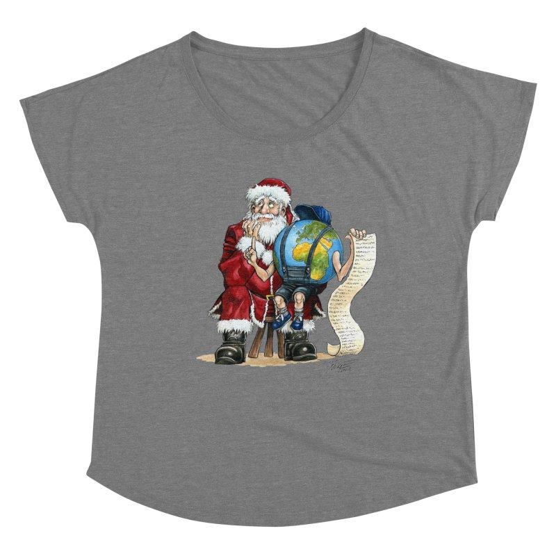 Poor Santa! What a headache! Women's Dolman Scoop Neck by Ferran Xalabarder's Artist Shop