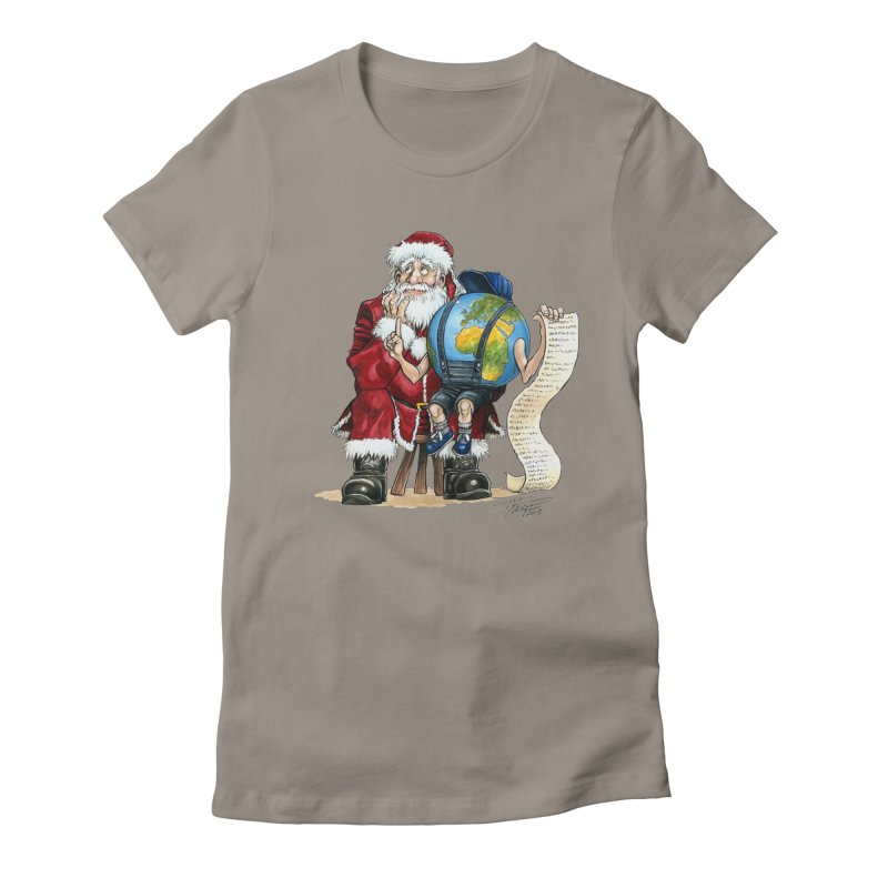 Poor Santa! What a headache! Women's T-Shirt by Ferran Xalabarder's Artist Shop