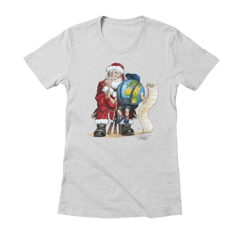 Poor Santa! What a headache! Women's T-Shirt by Ferran Xalabarder's Artist Shop