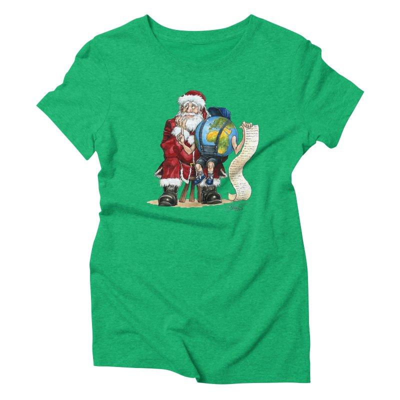 Poor Santa! What a headache! Women's Triblend T-Shirt by Ferran Xalabarder's Artist Shop