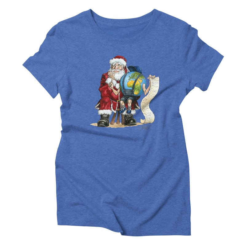 Poor Santa! What a headache! Women's Triblend T-Shirt by Ferran Xalabarder's Artist Shop