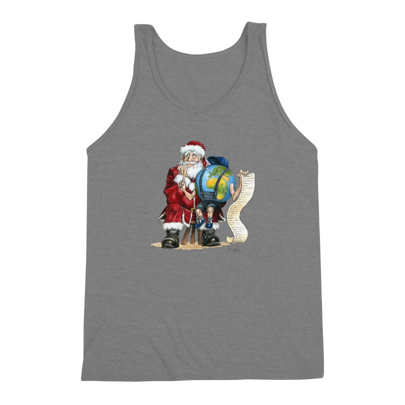 Poor Santa! What a headache! Men's Triblend Tank by Ferran Xalabarder's Artist Shop