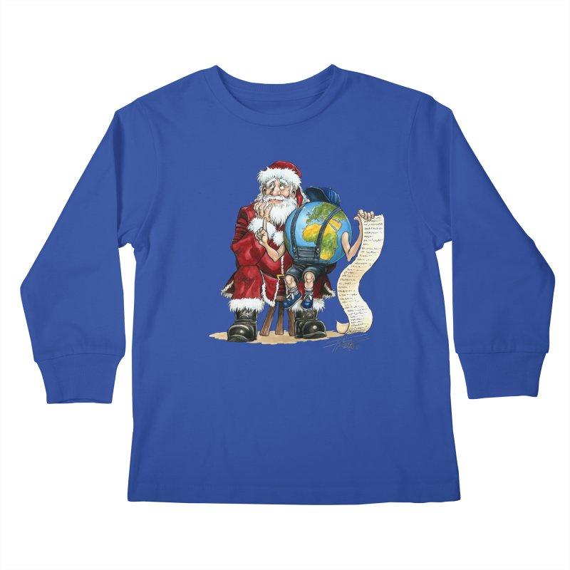 Poor Santa! What a headache! Kids Longsleeve T-Shirt by Ferran Xalabarder's Artist Shop