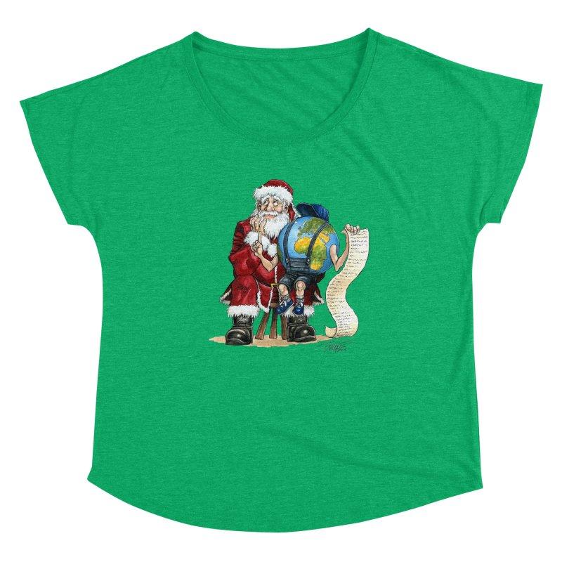 Poor Santa! What a headache! Women's Scoop Neck by Ferran Xalabarder's Artist Shop