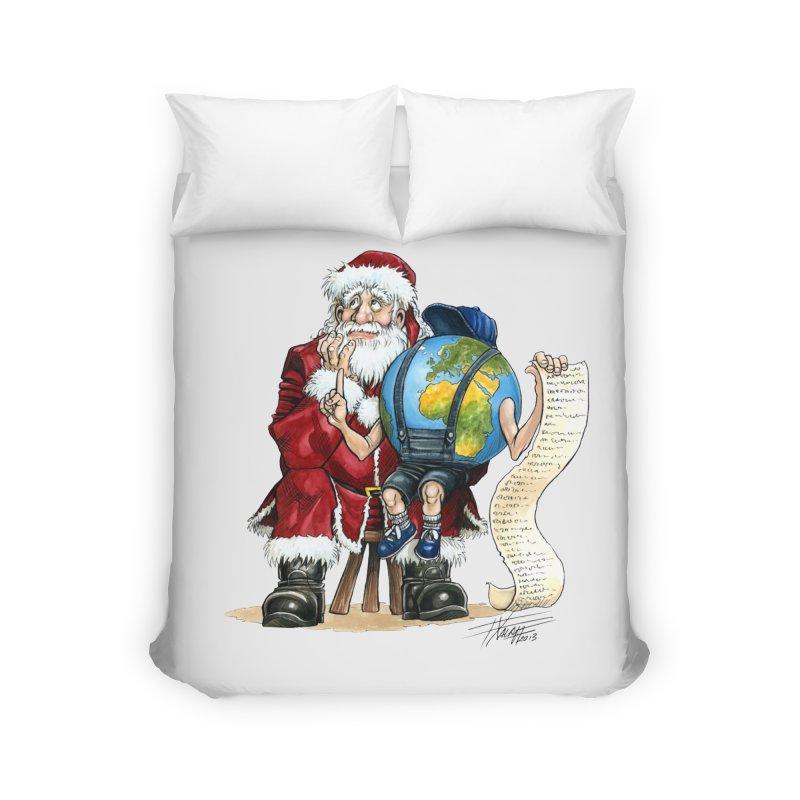 Poor Santa! What a headache! Home Duvet by Ferran Xalabarder's Artist Shop