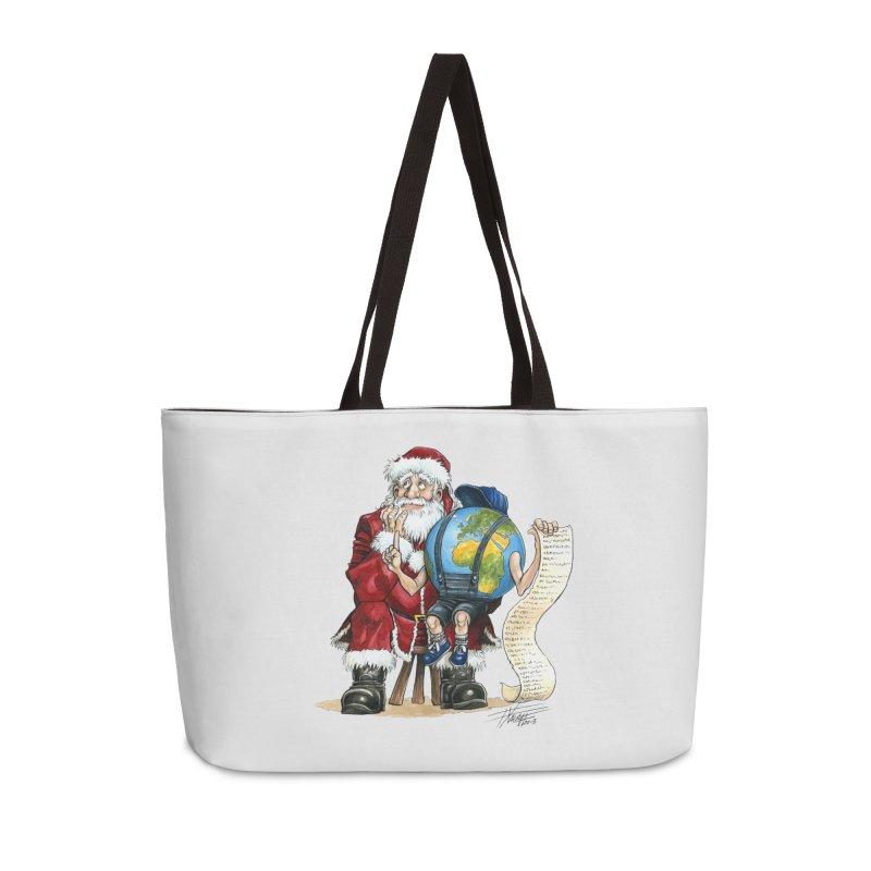 Poor Santa! What a headache! Accessories Weekender Bag Bag by Ferran Xalabarder's Artist Shop