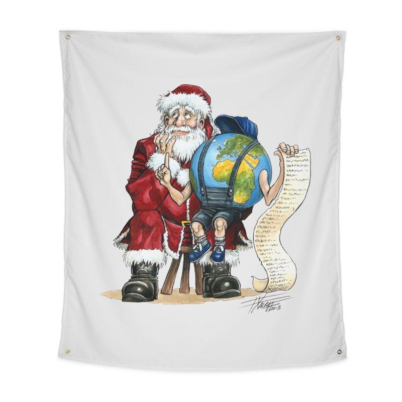 Poor Santa! What a headache! Home Tapestry by Ferran Xalabarder's Artist Shop