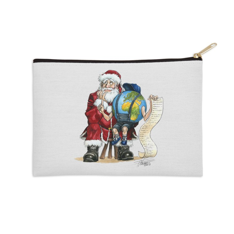 Poor Santa! What a headache! Accessories Zip Pouch by Ferran Xalabarder's Artist Shop
