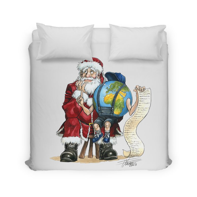 Poor Santa! What a headache! Home Duvet by Ferran Xalabarder's Artist Shop